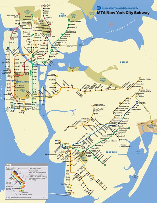 MTA Limited Subway Map