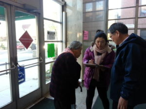 Exit poll volunteers in Flushing, Queens. Nov. 6, 2012. Courtesy of MinKwon Center