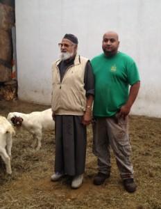 Imran and Riaz Uddin, father and son, who run Al Madani Butchery