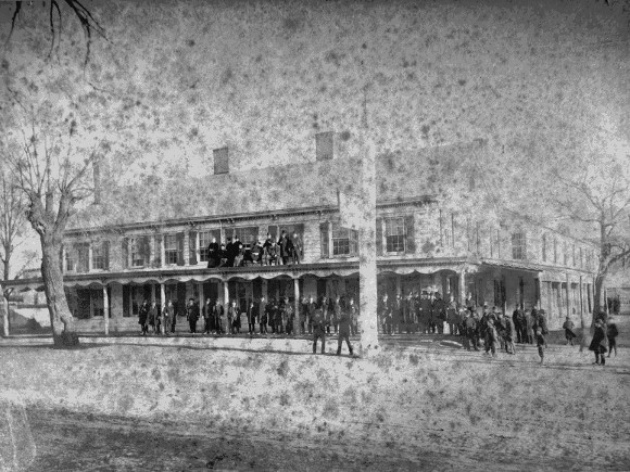Hotel where George Washington slept located on Jamaica Ave. and what is now Parsons Blvd. (and formerly Flushing Ave.) in Queens.