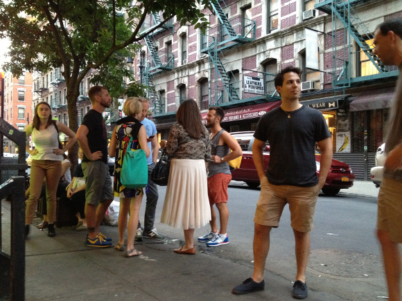Diners brave the 2 hour wait outside Mission Chinese. (Katie Salisbury)