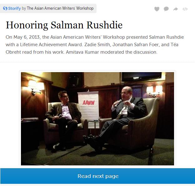 Storify: Honoring Salman Rushdie