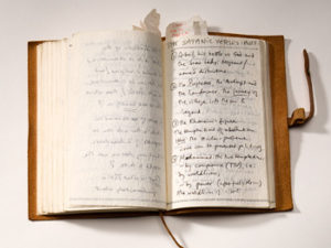 One of Rushdie's journals from his complete archive at Emory University | credit: Kay Hinton