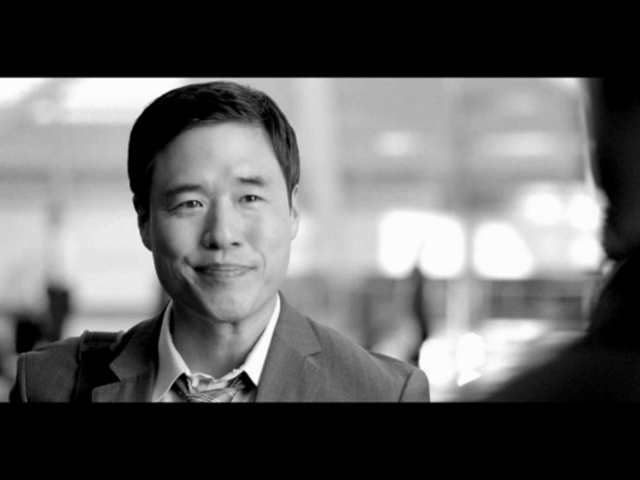 Randall Park in a commercial for Chase Sapphire