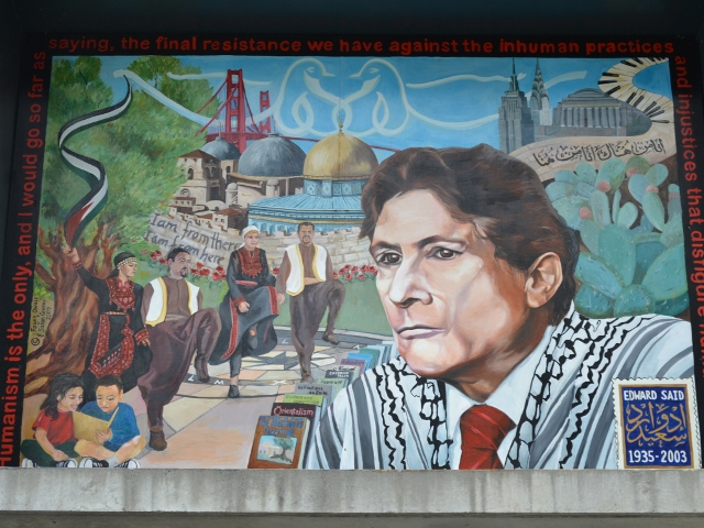 Edward Said - a mural in Palestine