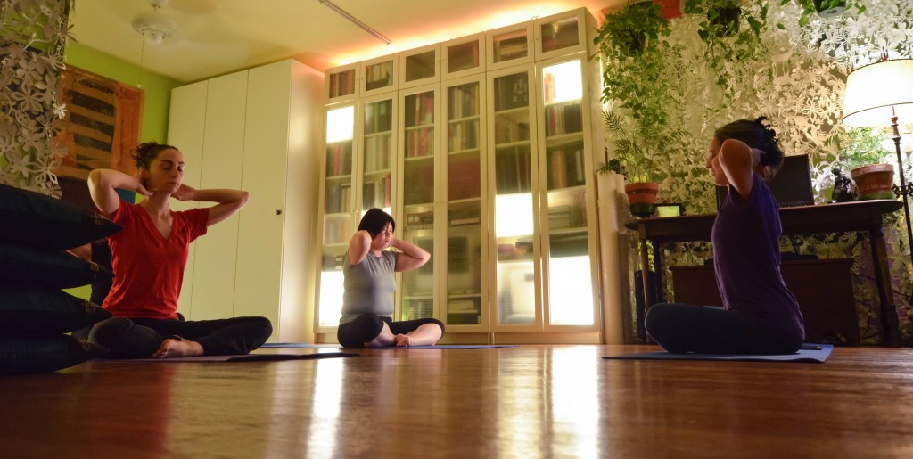 Suran's gentle yoga appeals to a wide range of her Jackson Heights neighbors.