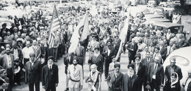 A parade of the Ghadr Party in Stockton, California.