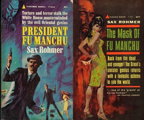 Two of Sax Rohmer's novels featuring Dr. Fu Manchu