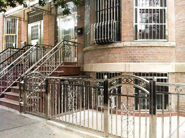 A stainless steel-clad home on 51st Street, renovated by Tony's Iron Work.
