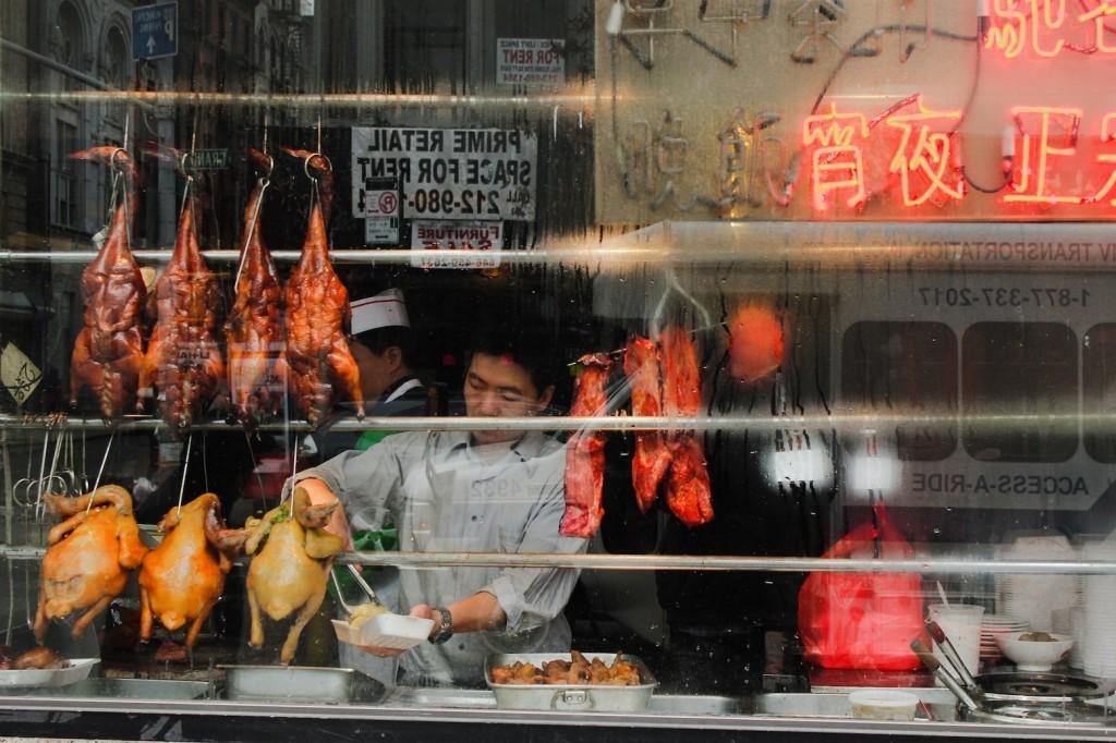 Ducks in the window.