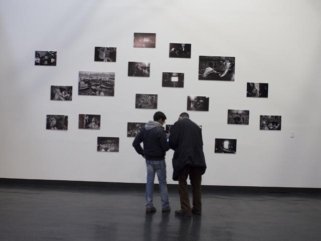 Munem Wasif's photographs on a wall at Eyes on Bangladesh, an exhibit in New York City featuring the work of nine Bangladeshi photographers. Courtesy Eyes on Bangladesh