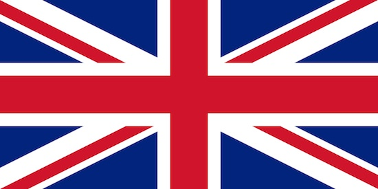 The British flag's xxxx