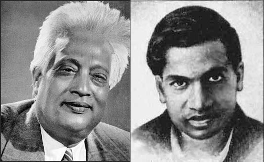 Bengali mathematical physicist Satyendra Nath Bose and Indian mathematician Srinivasa Ramanujan