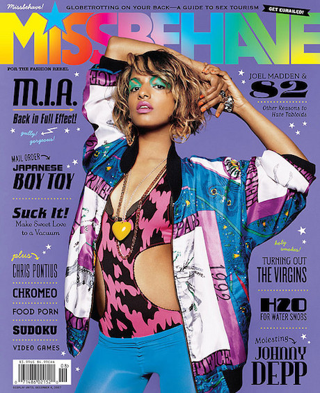MIA on the cover of Missbehave magazine.