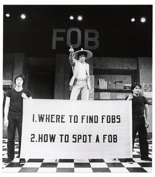 David Henry Hwang's F.O.B. performed by The Asian American Theatre Company in San Francisco in the early 1980s. Photo by Susan Cook