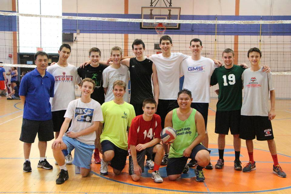 Team picture of the Polar Bears with coordinator Edward Wong on the far left. Photo by David Lew.