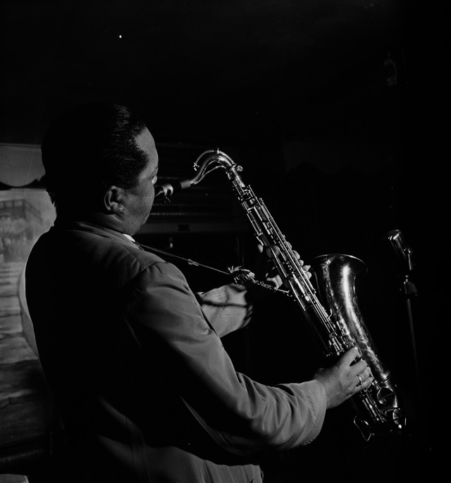 Lester Young. Photo by William P. Gottlieb.