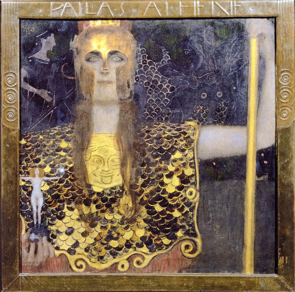 Gustav Klimt, Pallas Athene, 1898, Historisches Museum der Stadt Wien, Vienna [in the public domain: http://www.wikipaintings.org/en/gustav-klimt/minerva-or-pallas-athena]