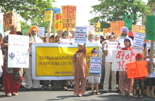 In 2008, Hora joined the march to protest the bullying of Sikh children.