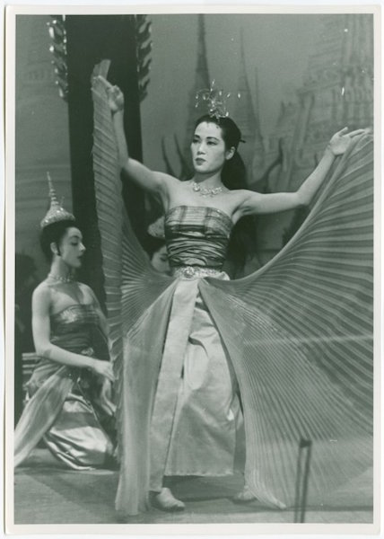 Michiko Iseri as royal dancer/angel in The King and I. Photo by Fred Fehl, courtesy NYPL digital collection.