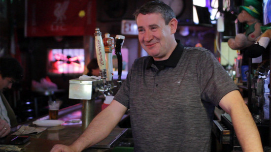 Brendan Farley, the owner of Soccer Tavern, believes that the customers make the bar.