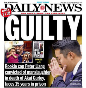 Some within the Chinese American community supported NYPD officer Peter Liang. Others expressed solidarity with the African American community in calling for justice for Akai Gurley.