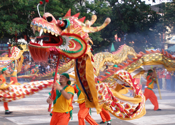 Dragons are believed to ward off evils spirits. Photo by J. Benson Castro