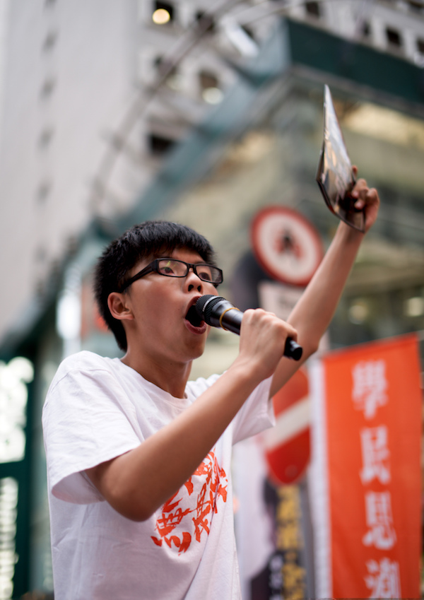 19-year-old Hong Kong pro-democracy activist Joshua Wong, who played a major role in the 2015 Umbrella Movement protests. Photo courtesy Pacific Chillino/Flickr