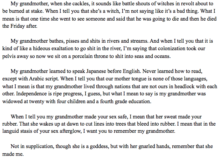 Asian American Writers' Workshop - Ode to My Grandmother