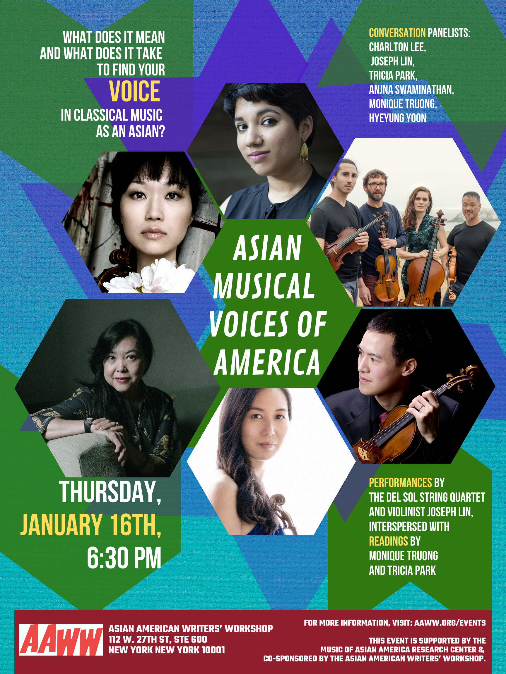 Presented by Asian Musical Voices of America: A Reading, Performance, & Panel