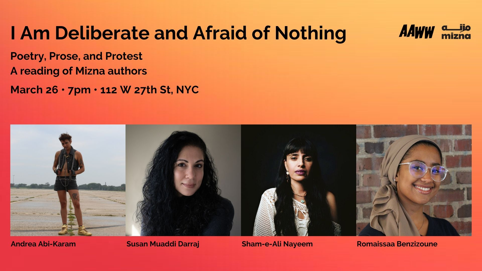 I Am Deliberate and Afraid of Nothing: Poetry, Prose, and Protest