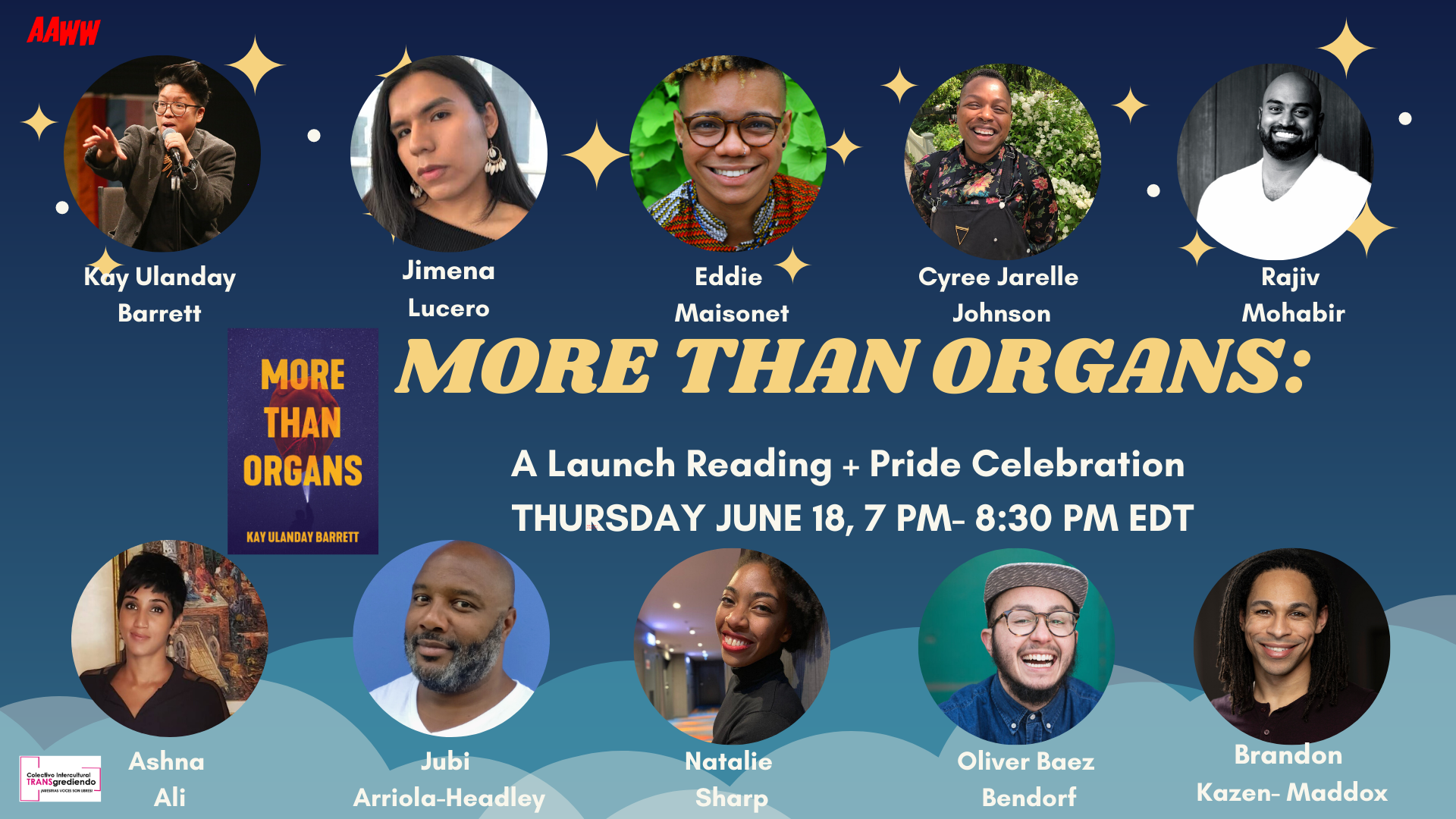 aaww.org: MORE THAN ORGANS: Book Launch Reading + PRIDE Celebration
