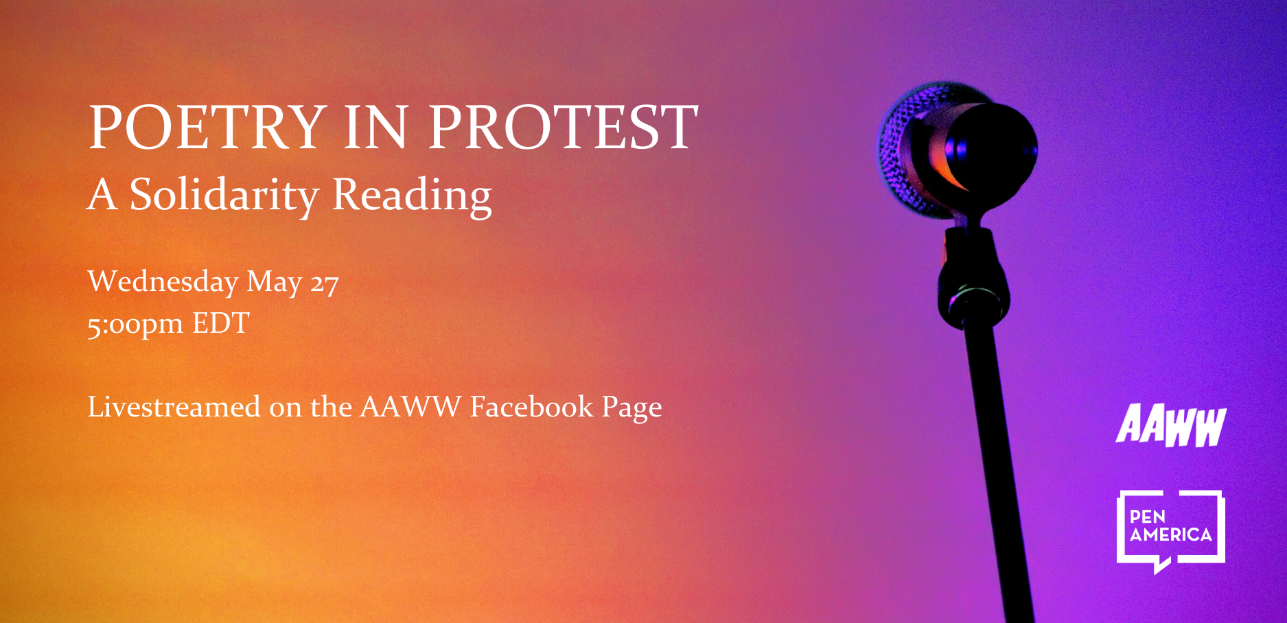 Poetry in Protest: A Solidarity Reading