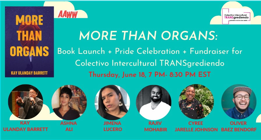 MORE THAN ORGANS: Book Launch Reading + PRIDE Celebration