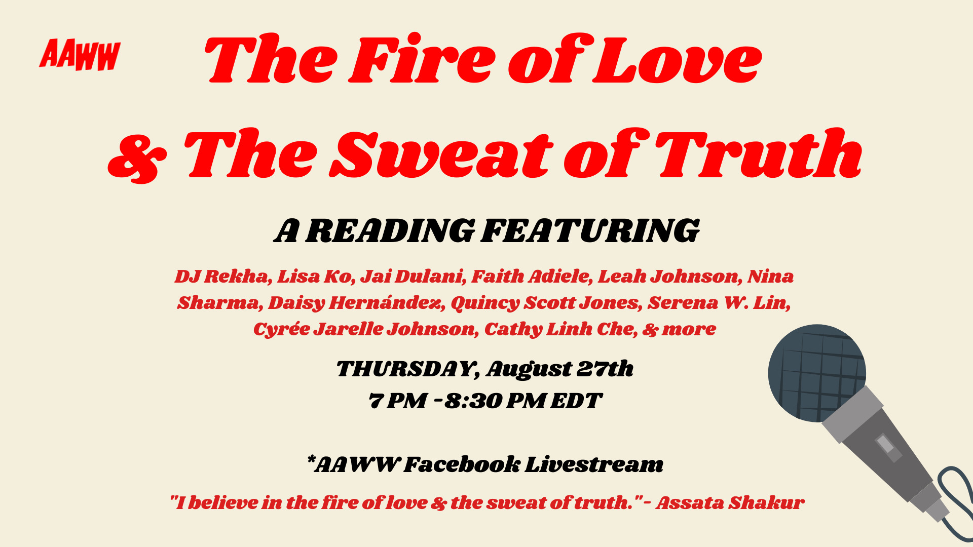 The Fire of Love & The Sweat of Truth: A Reading