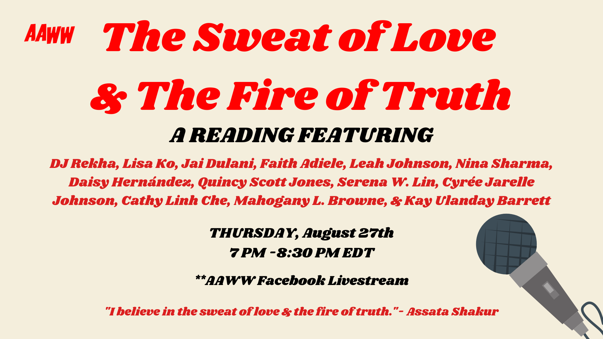 The Sweat of Love & The Fire of Truth: A Reading
