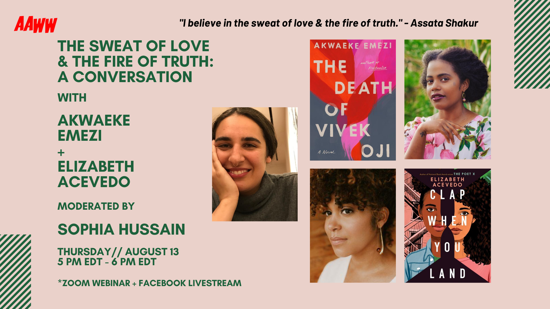 aaww.org: The Sweat of Love & the Fire of Truth: A Conversation
