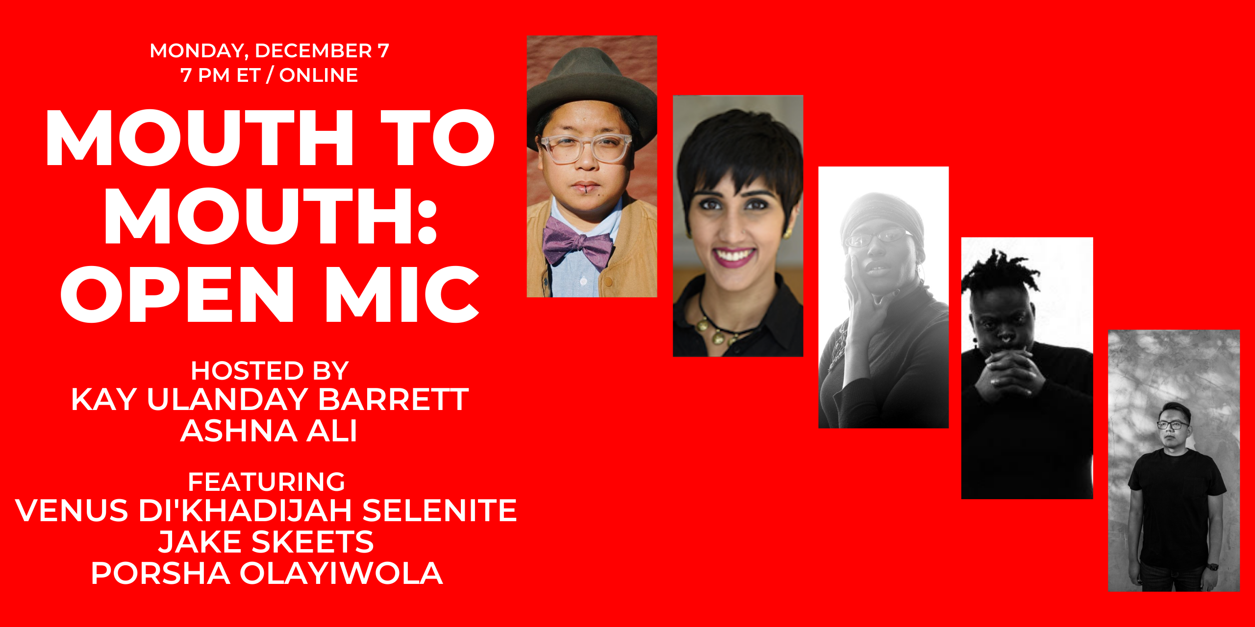 AAWW & Kay Ulanday Barrett Present Mouth to Mouth: Open Mic and Showcase