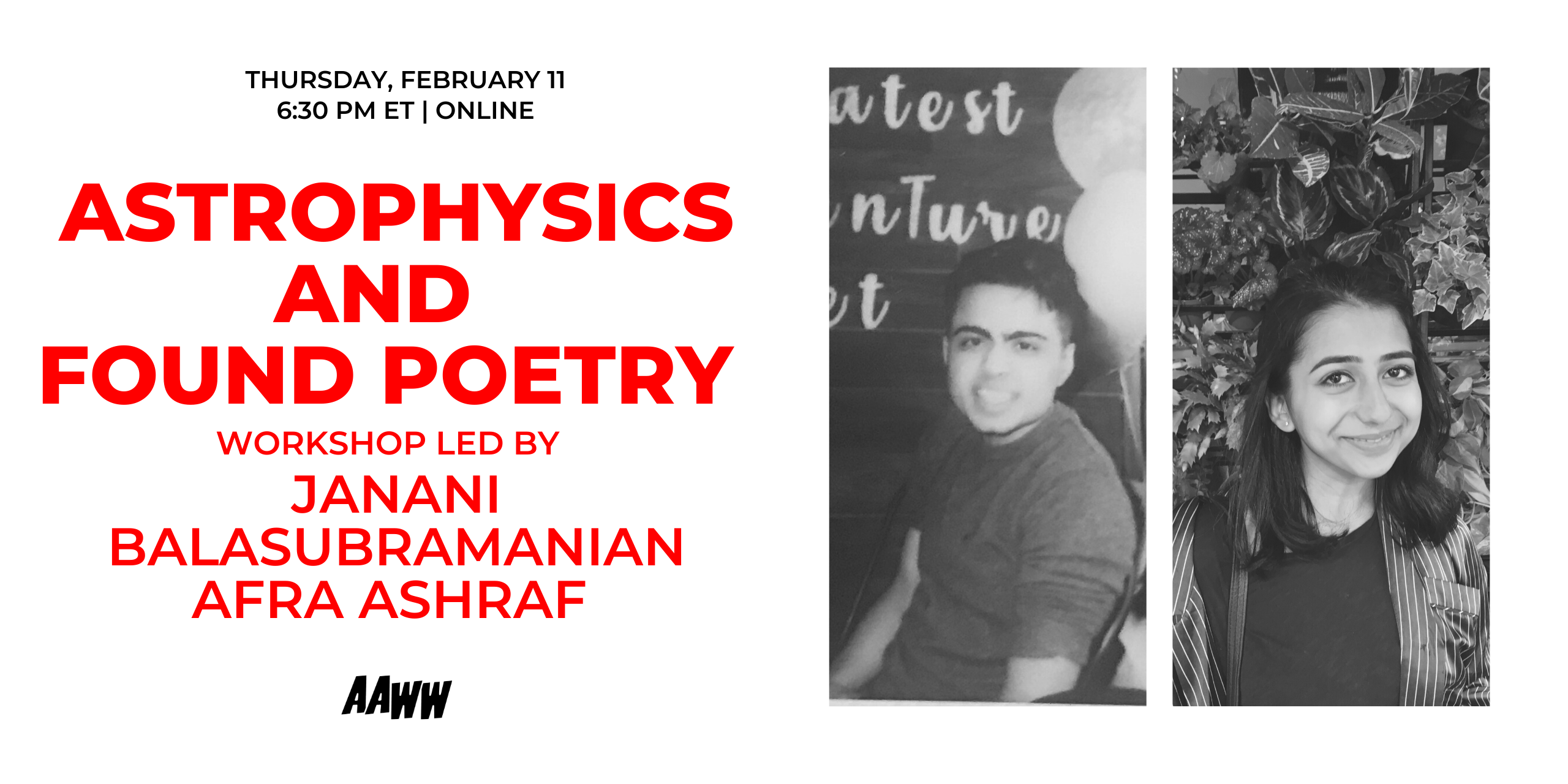 Workshop: Astrophysics and Found Poetry