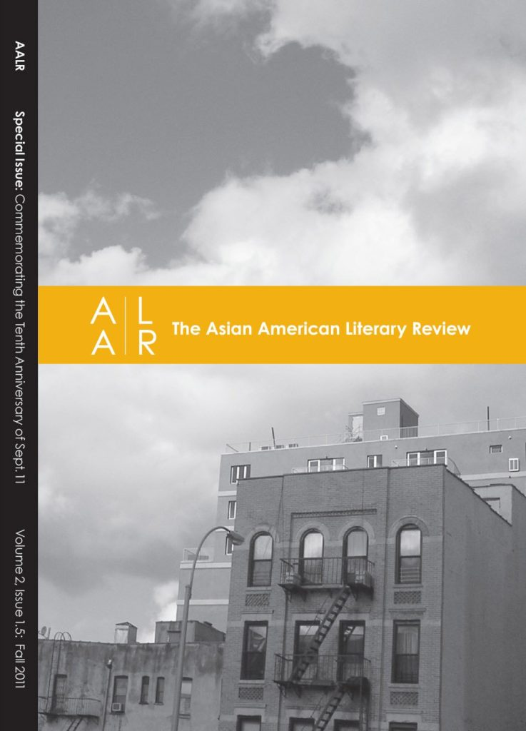 The cover of the Fall 2011 issue of the Asian American Literary Review