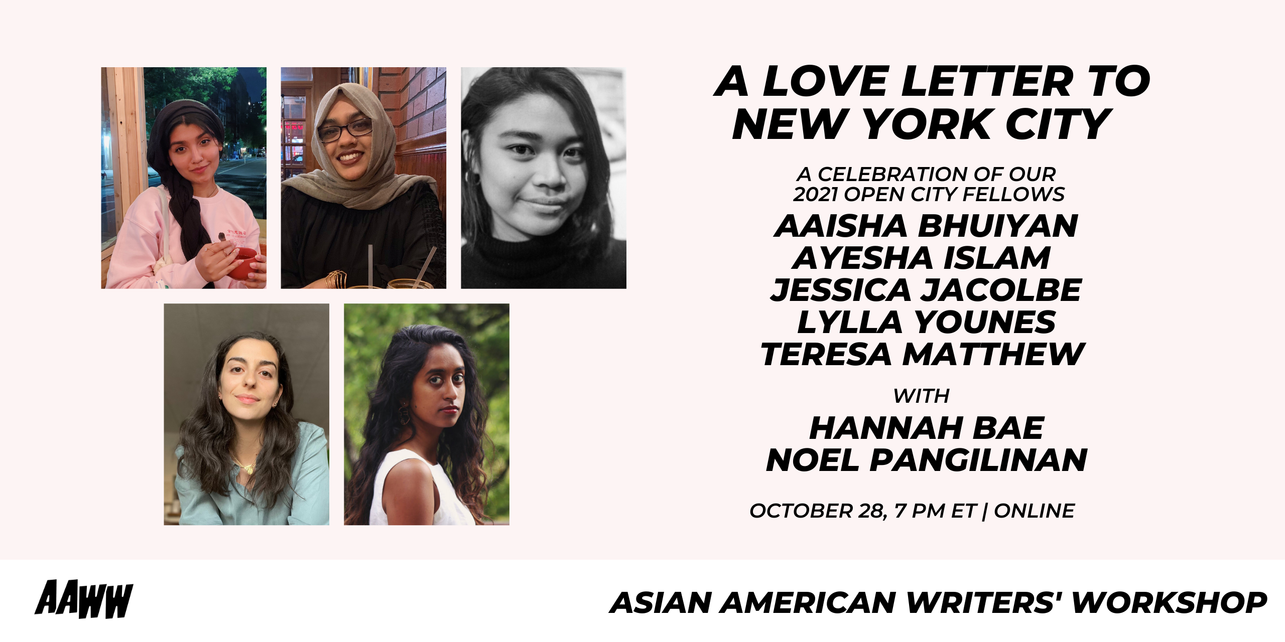 A Love Letter to New York City: 2021 Open City Fellows Final Reading